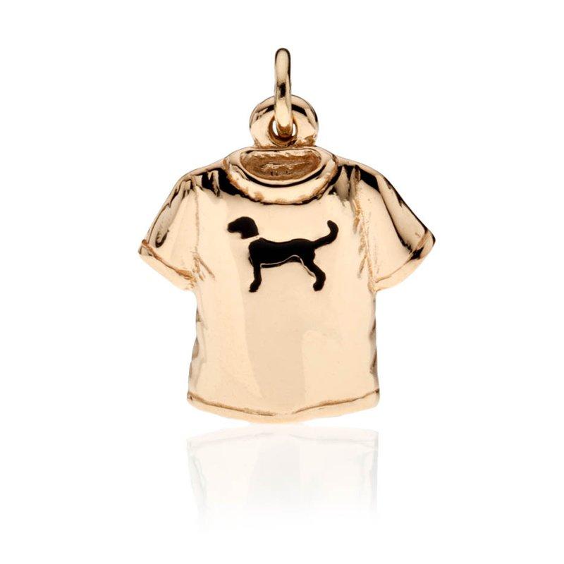 Black Dog T-shirt charm