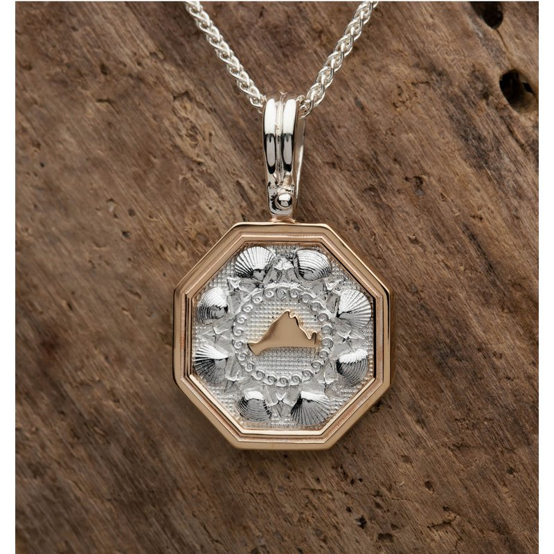 Medium Martha's Vineyard Sailor's Valentine pendant