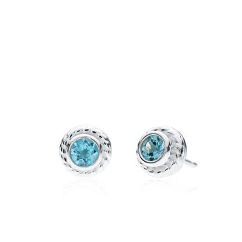 Rigging Collection Blue Topaz Stud earrings