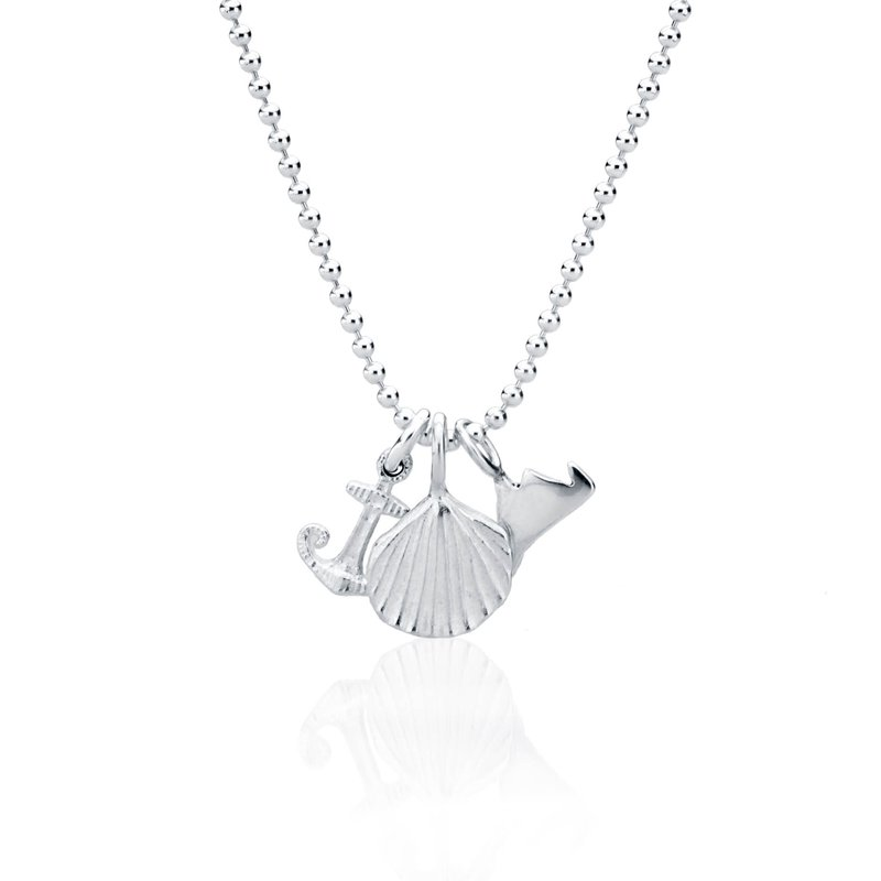 Mini Charm Necklace with Martha's Vineyard, Scallop and Anchor