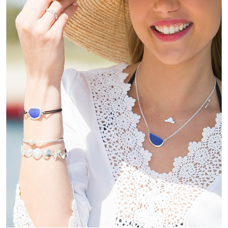 Contemporary Martha's Vineyard Clear Cord Necklace