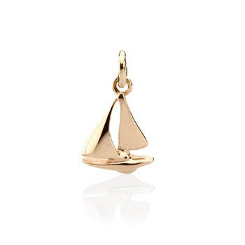 Tiny Sailboat charm