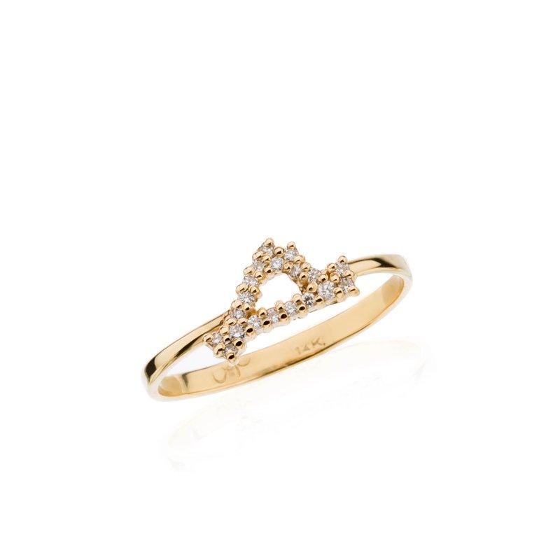 Mini Diamond Pave Martha's Vineyard ring