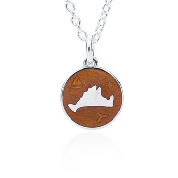 """Out at Sea"" Topaz Enamel Martha's Vineyard Pendant"