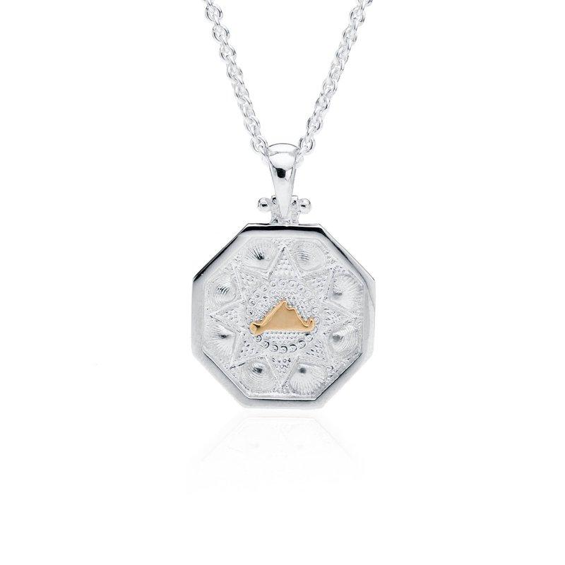 Small Martha's Vineyard Sailor's Valentine pendant