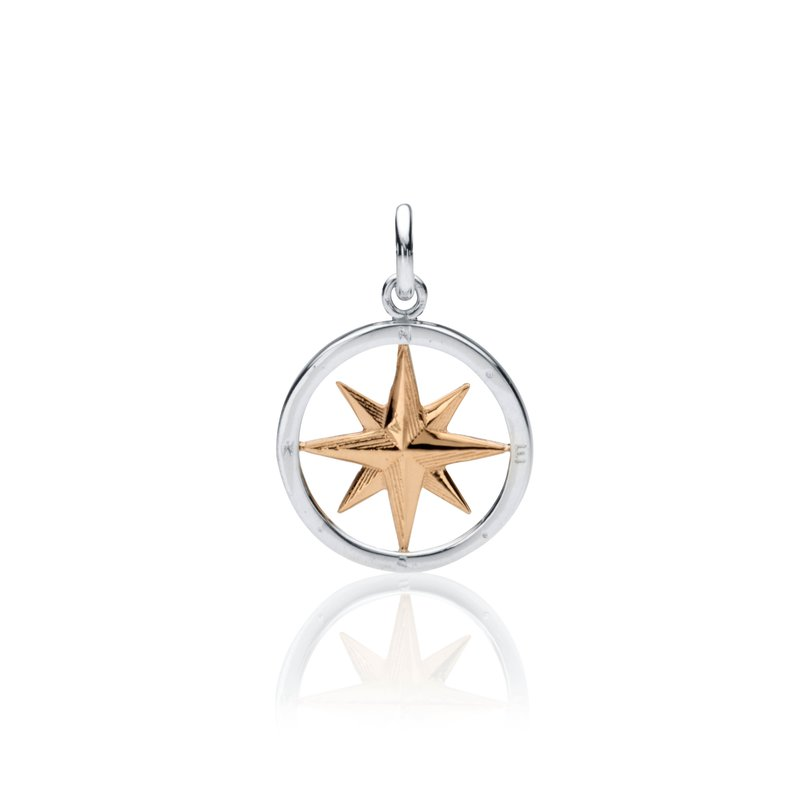 Compass Rose Round charm