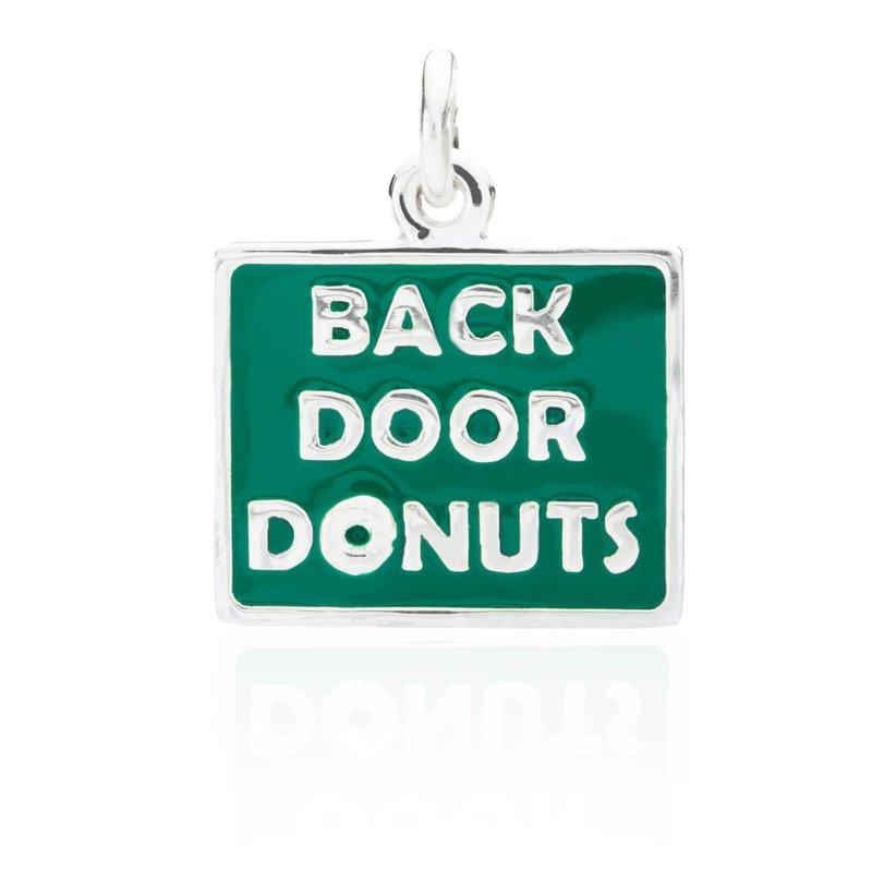 Back Door Donuts Enamel charm