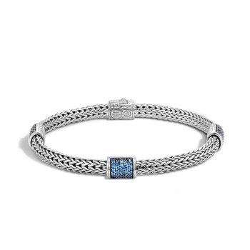 John Hardy Four Station bracelet with sapphires