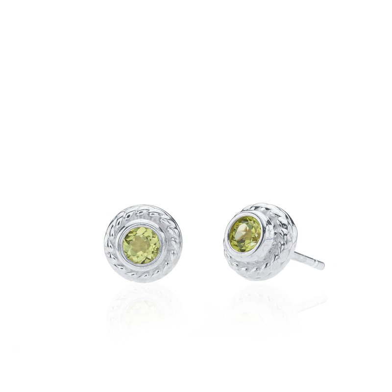 Rigging Collection Peridot Stud earrings