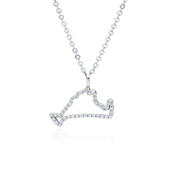 Diamond Martha's Vineyard Small Outline Necklace