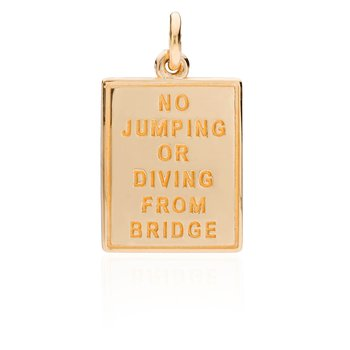 "Jaws Bridge ""No Diving"" Sign charm"