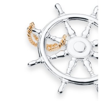 Charles W Morgan Ship's Wheel pendant