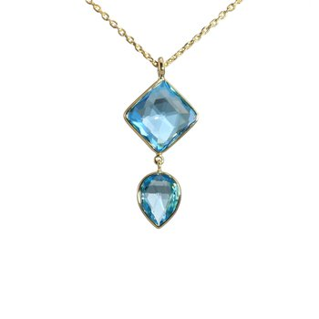 Blue Topaz Drop Necklace
