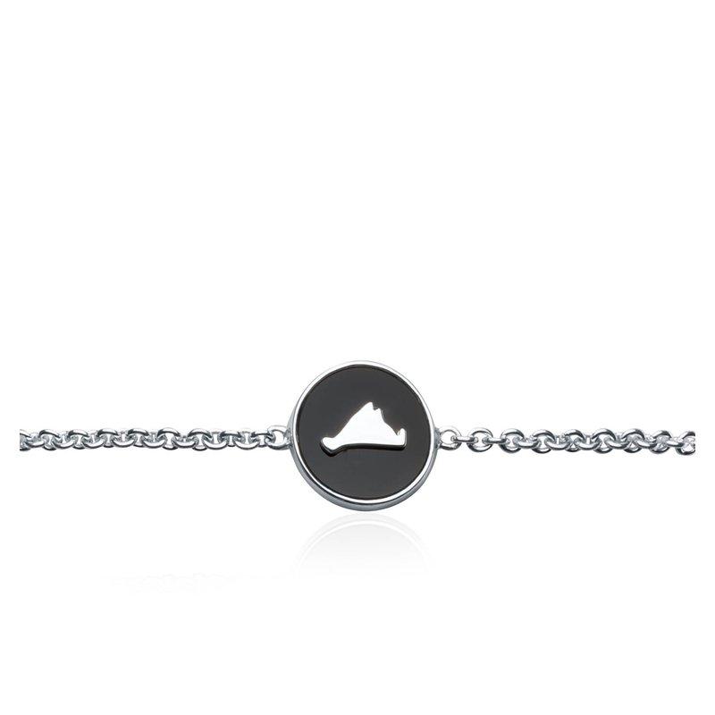 Vineyard Colors Station bracelet in sterling silver