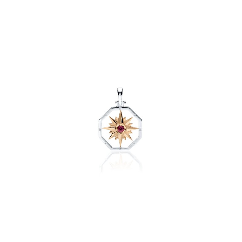 Small Compass Rose with Gemstone pendant