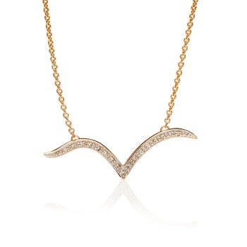Diamond Seagull necklace