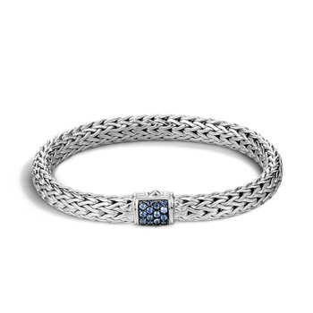John Hardy Classic medium chain bracelet with Sapphires