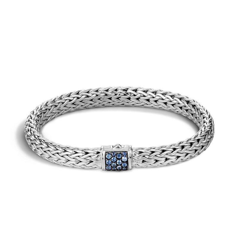 John Hardy Classic medium chain bracelet with Sapphires