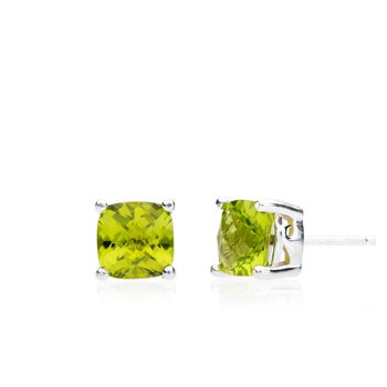 Wave Collection large earrings with peridot