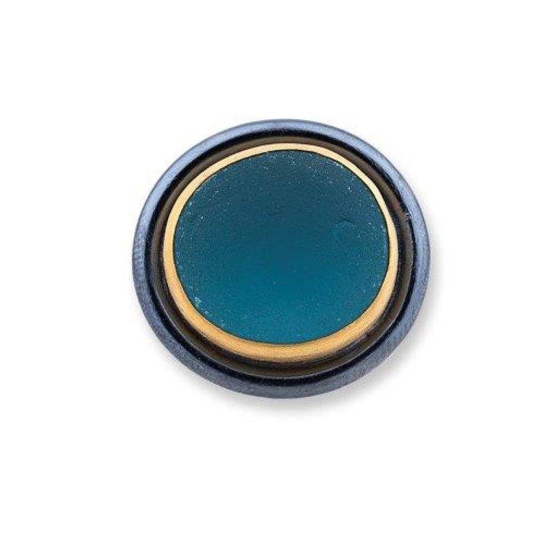Lika Behar Dark Aqua Vineyard Seaglass Ring