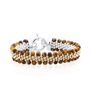 Dovera Reversible Tiger's Eye Woven bracelet