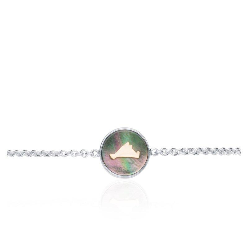 Vineyard Colors Station bracelet in sterling silver and 14k gold