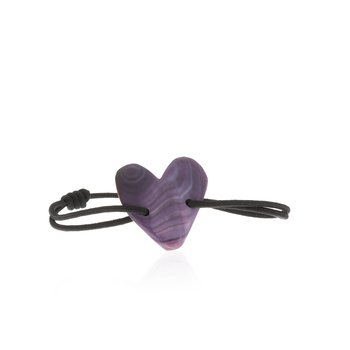 Quahog Heart Tie bracelet