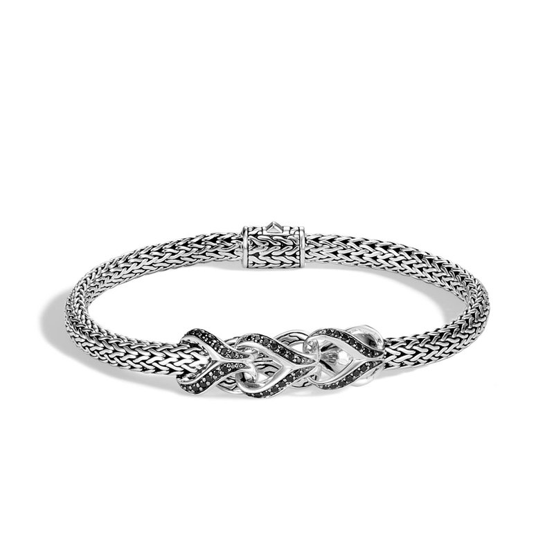 John Hardy Asli Classic Chain Extra Small Bracelet with Black Sapphire