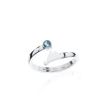 Martha's Vineyard Blue Topaz Bypass ring