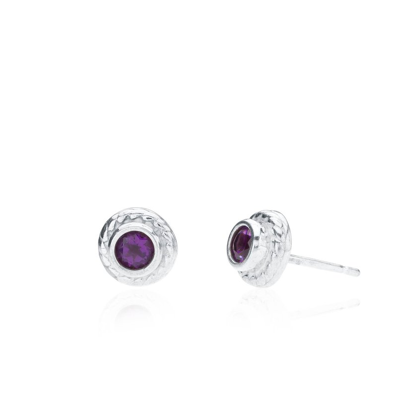 Rigging Collection Amethyst Stud earrings