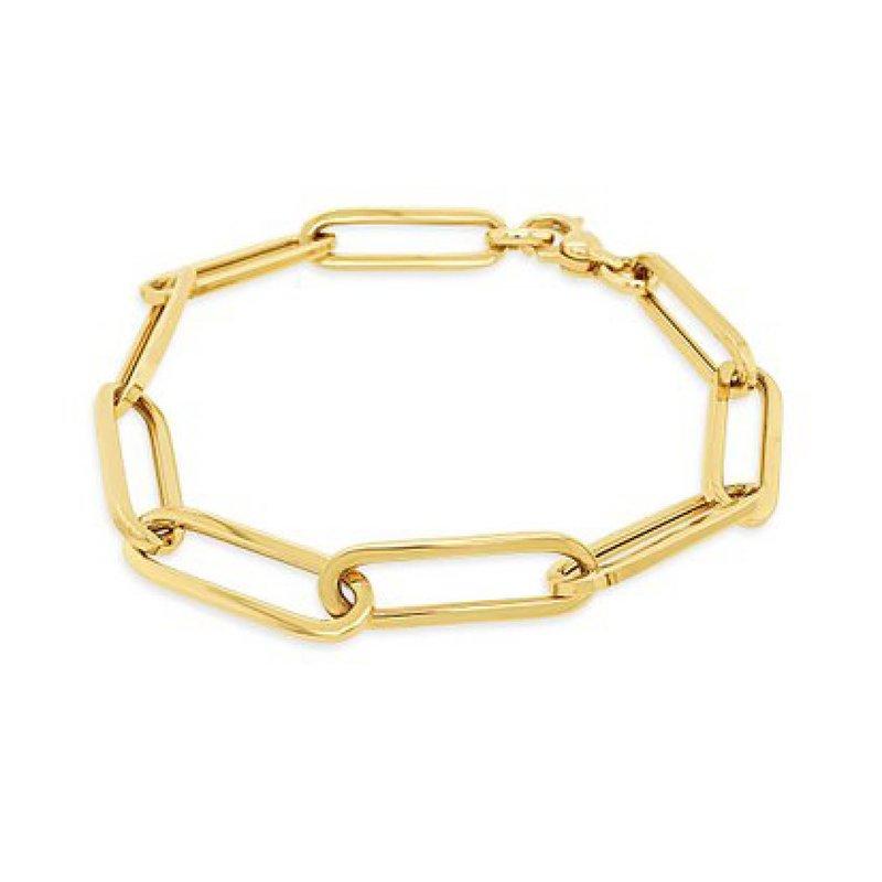 14K Paperclip Link Bracelet