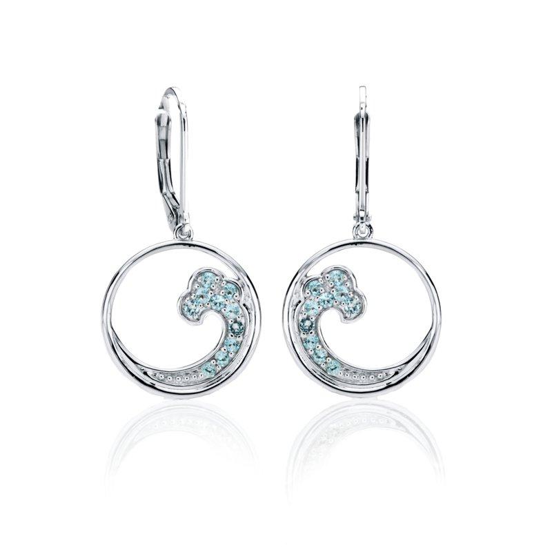 Blue Topaz Wave earrings