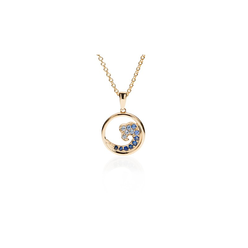 Sapphire Small Wave pendant