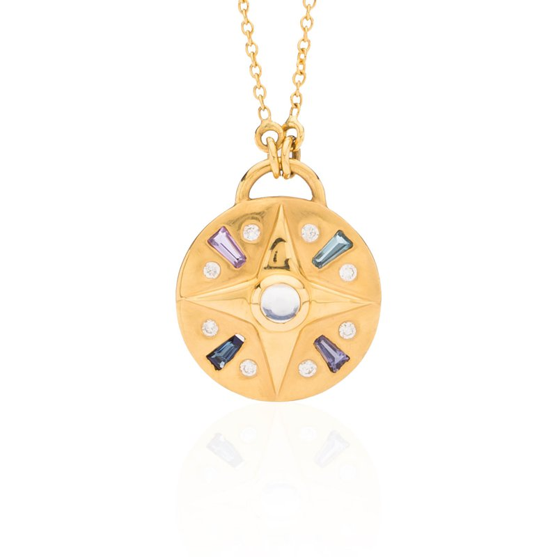 Compass necklace by Theresa Kaz