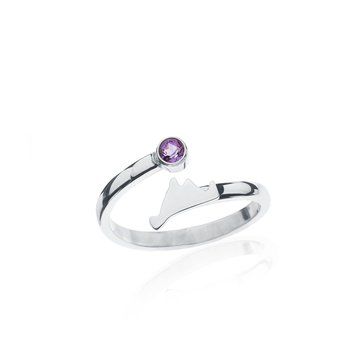 Martha's Vineyard Amethyst Bypass ring