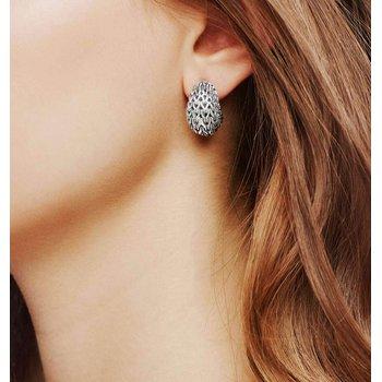 John Hardy Graduated Chain Buddha Belly earrings