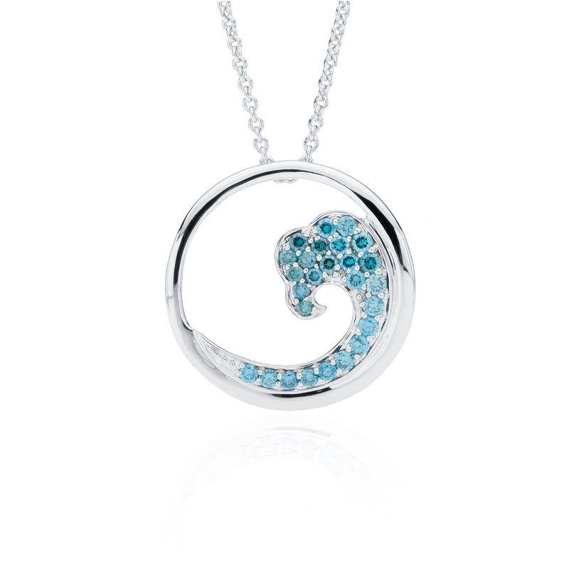 Blue Diamond Wave pendant