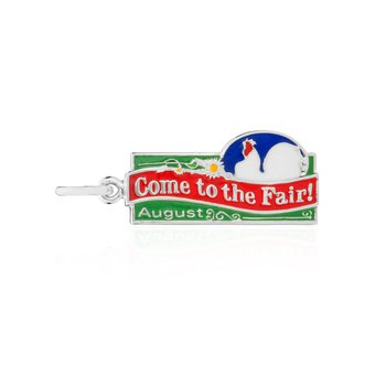 Come to the Fair enamel charm