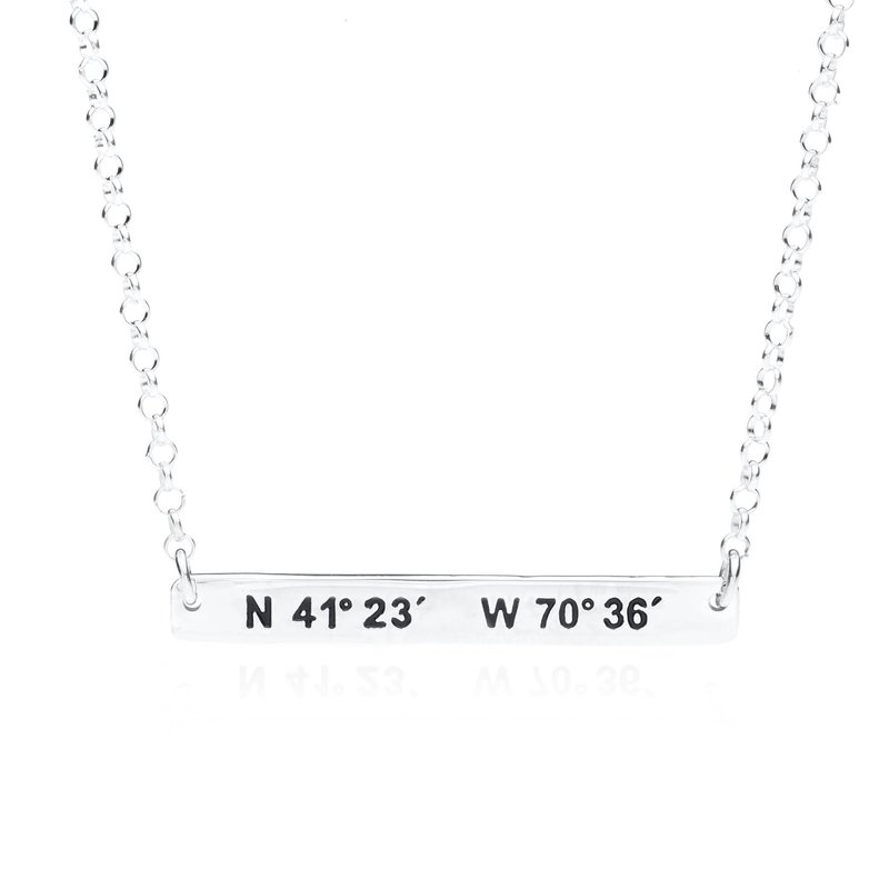 Martha's Vineyard Coordinates necklace