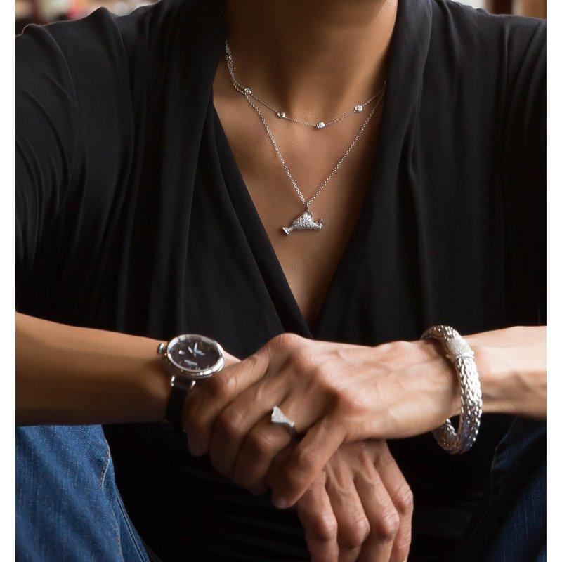 Large Pave Diamond Martha's Vineyard necklace