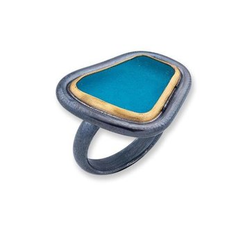 Lika Behar Teal Vineyard Seaglass Ring
