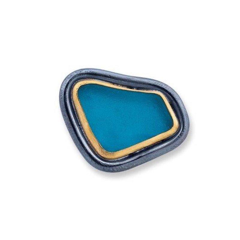Lika Behar Teal Vineyard Seaglass Ring