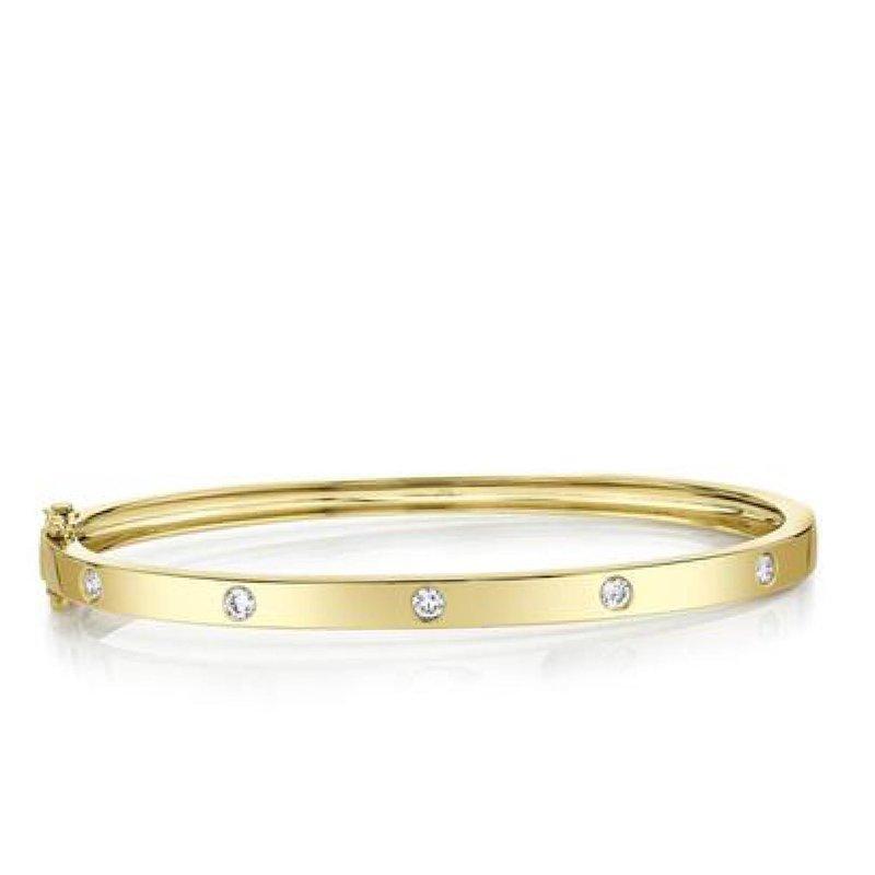 Diamond Station Bangle Bracelet