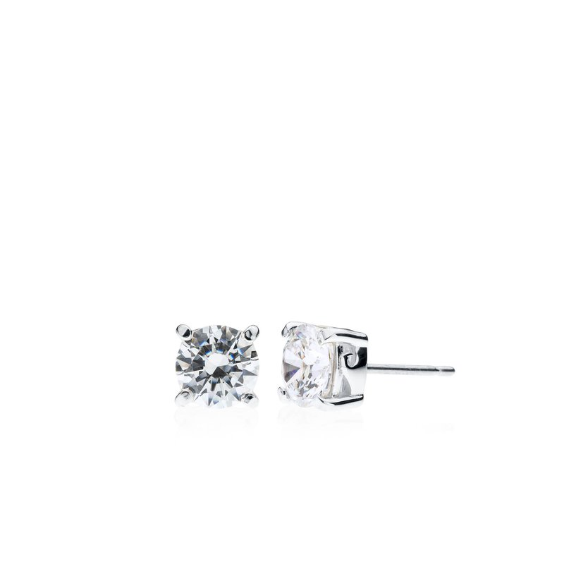Wave Collection small earrings with cubic zirconia