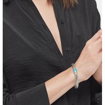 John Hardy Classic Medium Chain Bracelet with Turquoise