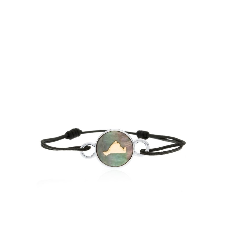 Vineyard Colors Tie bracelet in sterling silver and 14k gold