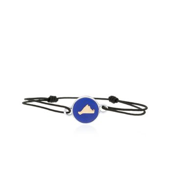 Vineyard Colors Tie bracelet in sterling silver and 14k gold