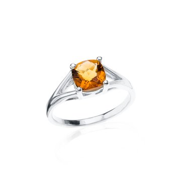 Wave Collection ring with citrine