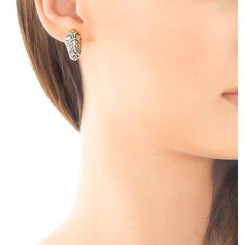 John Hardy Naga Buddha Belly earrings