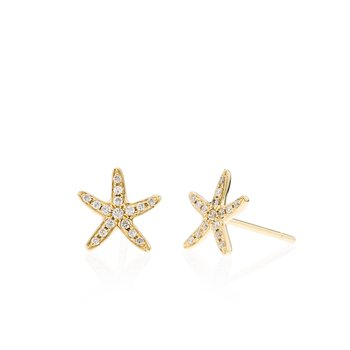 Diamond Starfish small earrings